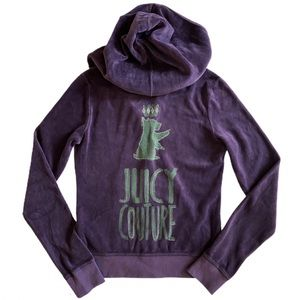 🆕 Juicy Couture Velour Sweatshirt Hoodie Zip Up